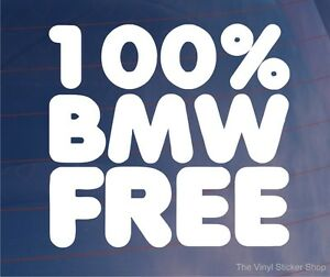 100-BMW-FREE-Car-Window-Bumper-Sticker-Ideal-for-British-Leyland-Austin-Mini