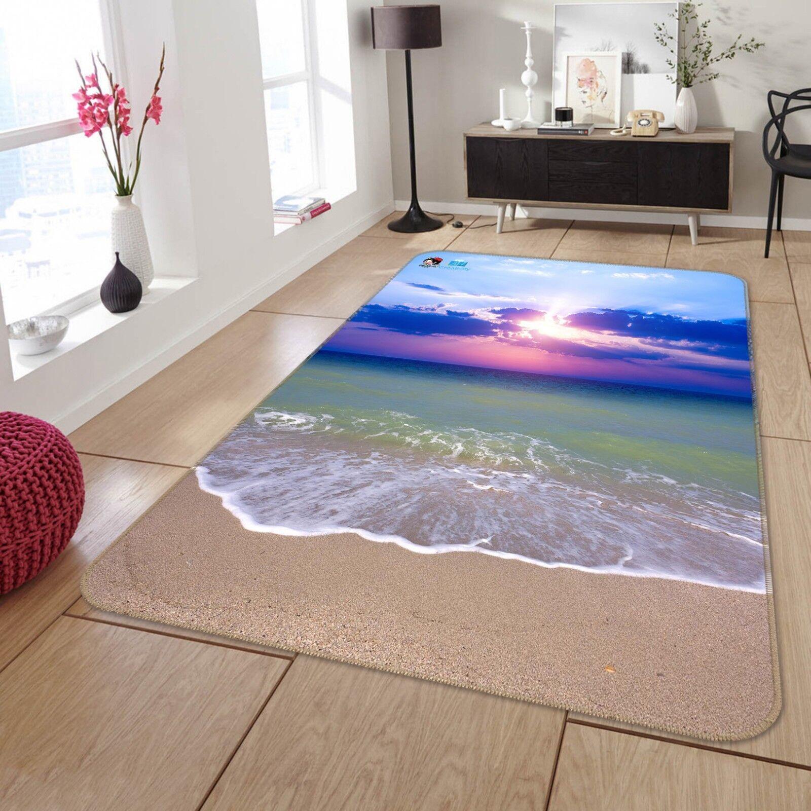 3D Sunny Surf Beach 66 tappetino antiscivolo tappeto camera Tappetino Qualità Elegante foto Tappeto UK