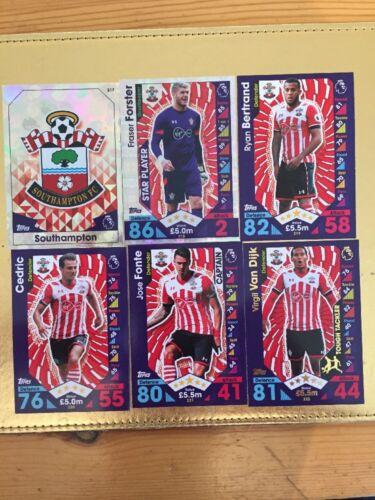 Match Attax Season 16//17 Complete Set Of Southampton Base Cards x19