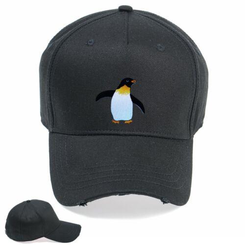 Penguin Funny Designer Embroidered Vintage Hat Cap Snapback Weathered