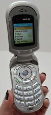LG VX3450 Verizon Silver Flip Cell Phone Speakerphone Alarm Clock Tip Calculator