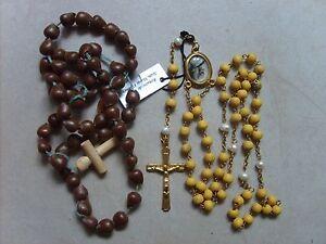 Lot-de-2-anciens-chapelets-rosaires-catholique-de-44-5-cm-et-51-5-cm-lot-B16