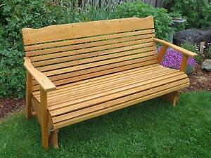 Remarkable Details About Cedar 5 Glider Bench Outdoor Patio Furniture Garden Rocker Porch Amish Crafted Creativecarmelina Interior Chair Design Creativecarmelinacom