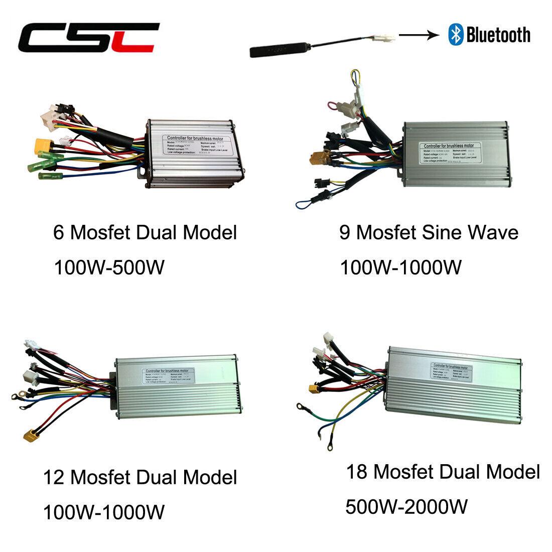 REGOLATORE Brushless BICI E KT 6 9 12 18 MOSFET 36V 48V 250W 1000W 1500W 2000W