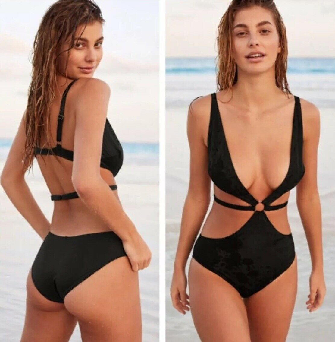 NWT Free People Thistle And Spire Cross My Heart One Piece Swimsuit Size Medium