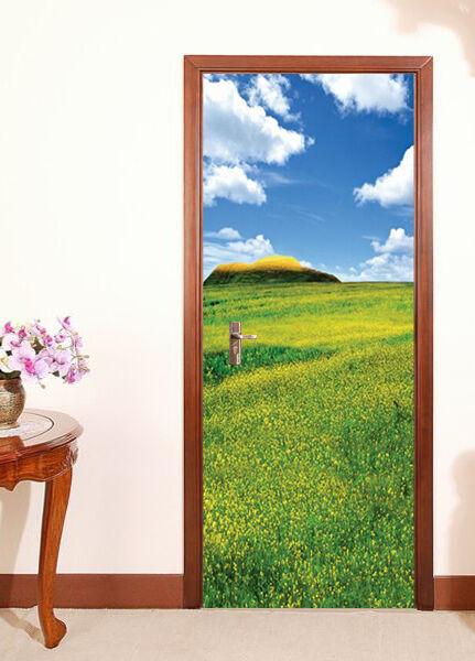 3D Blaumenfeld 81 Tür Wandmalerei Wandaufkleber Aufkleber AJ WALLPAPER DE DE DE Kyra   Sale Outlet    Qualifizierte Herstellung     8fd559