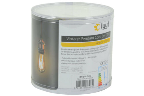 Copper Vintage Hanging Braided Pendant Holder E27 LED Tubular filament Lamp