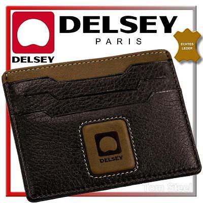 DELSEY - Paris - EC Kartenetui Geldschein Schutzhülle Leder Kreditkartenetui NEU