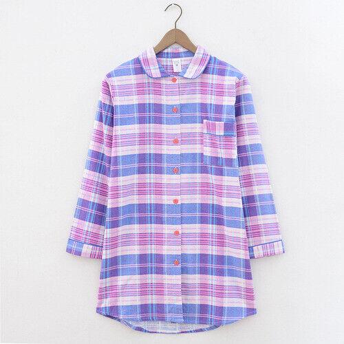 Details about  /Plus size winter nightdress ladies pajamas ladies pajamas 100/% brushed cotton