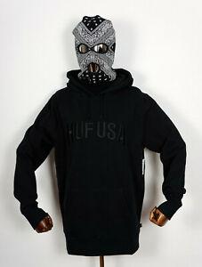 Huf-Worldwide-Hooded-Hood-Sweatshirt-Sweat-Hoodie-Team-Logo-P-O-Black-in-L