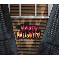 Lighted Happy Halloween Window Decoration Man Cave Decor