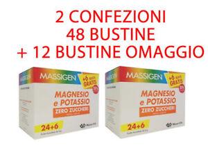 OFFERTA-X-2-MASSIGEN-MAGNESIO-E-POTASSIO-ZERO-ZUCCHERI-48-BUSTINE-12-OMAGGIO