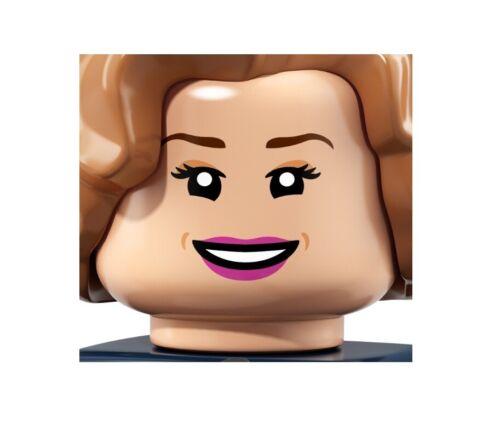 Lego New Light Flesh Minifigure Girl Head Female with Pink Lips Eyeslashes