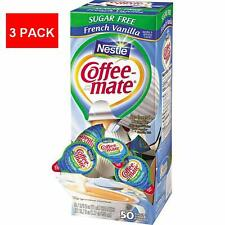 3 Pack Nestlé Coffee-mate Sugar Free French Vanilla Liquid Creamer Singles 150ct
