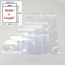 Ziplock Bags Reclosable Clear 2 Mil Plastic Zipper Poly Baggies Free Shipping