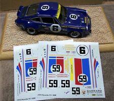 1/24 PORSCHE 911 RSR #6 SUNOCO #59 WINNER 73 DAYTONA DECALS PRINTED AT CARTOGRAF