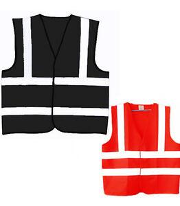 Red Hi Visibility Reflective Safety Vest