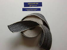 """6 Metres of  2/"""" wide Traditional Upholstery Webbing. Black /& White"""