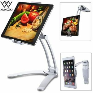 Metal-Desktop-amp-Wall-Pull-Up-Lazy-Bracket-Mount-amp-Holder-For-Smartphone-amp-Tablet