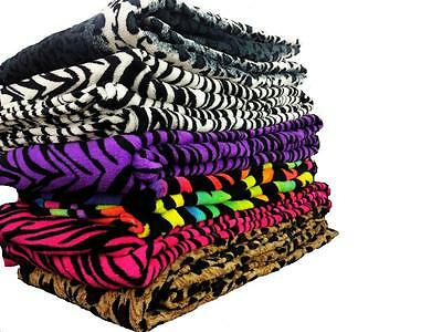 Super Soft Luxurious Fleece Throw Blanket Zebra & Leopard Available For all Beds