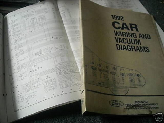 1992 Ford Tempo Mercury Topaz Wiring Diagrams Set