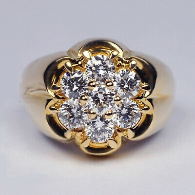Exquisite  14kt Yellow Gold Filled White Sapphire  Ring  Size S