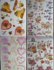 A4 3D Paper Tole Valentine Hearts Present Birds Hat Roses Tea 4 different sheets