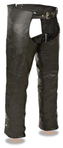 EL1117 Event Leather Men/'s Basic Motorcycle Rider Lined Chaps With Coin Pocket