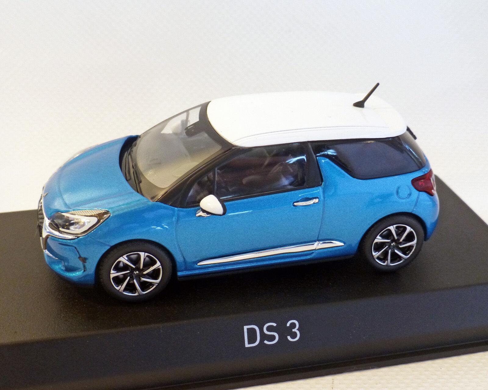 CITROEN DS 3, bleu métallisé, 2016, NOREV 1 43
