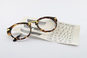 CHAI-Brille-No-4-1-AM-12-F677-46-20-130-Vintage-Eyeglasses-Frame-Men-Round-90s