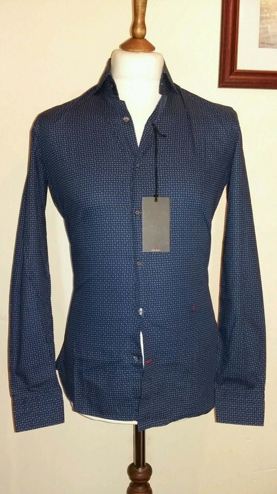 PEUTEREY Slim Fit Long sleeve Shirt Size Small