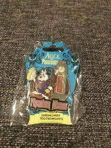 Disney-Alice-in-Phantomland-white-rabbit-pocket-watch-clock-Phantom-Manor-pin-Le