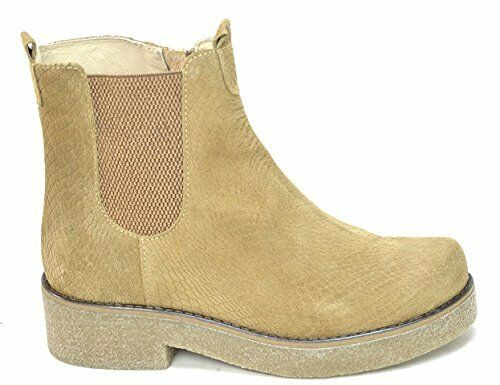 OGS Wide chaussures Paola Beige Suede bottes 3E wide