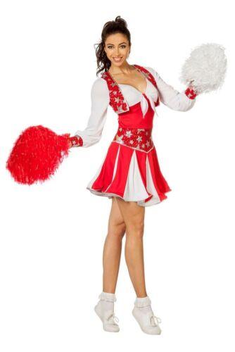 Damen Kostüm Cheerleader Tänzerin rot Karneval Fasching WIL