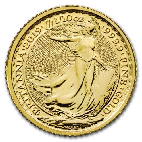 SKU#177489 2019 Great Britain 1//10 oz Gold Britannia BU