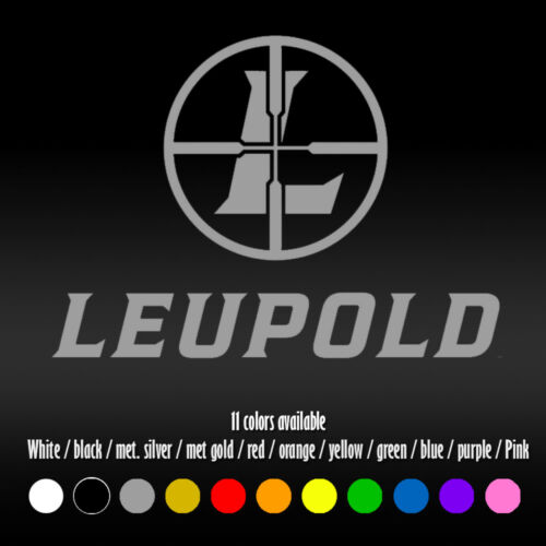 "6/"" Leupold Optics Car Hunting Laptop Window Bumper Diecut Vinyl Decal sticker"