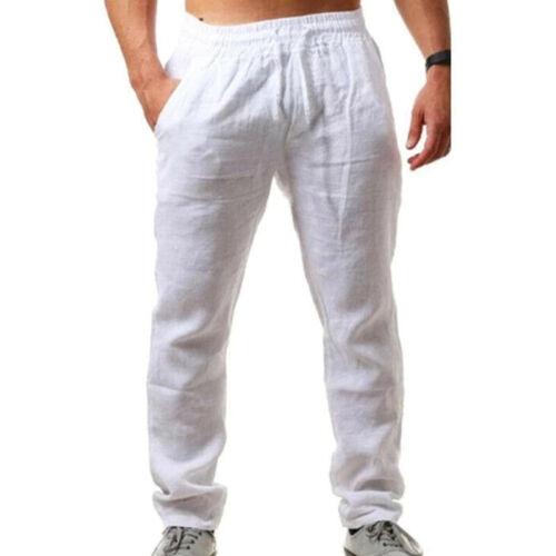 Details about  /Men Plain Elastic Waist Yoga Trousers Running Jogging Casual Baggy Track Pants