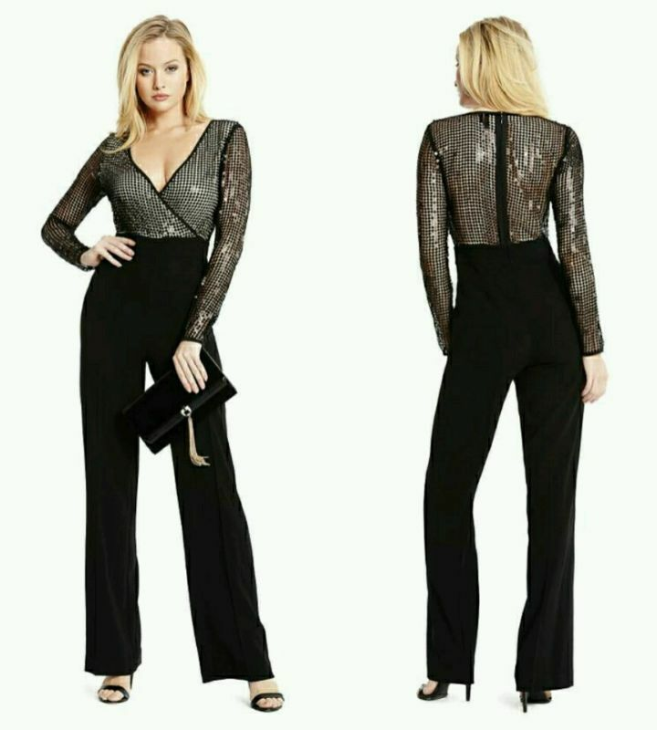 ❤  EXCLUSIVE GUESS BY MARCIANO SEQUINED  LYNDSAY JUMPSUIT ❤