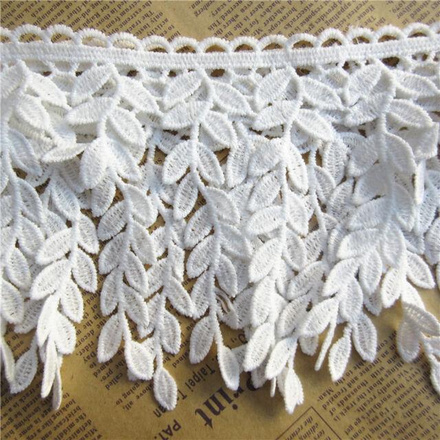 1yard Leaf Cotton Crochet Lace Trim Ribbon Embroidered Applique Diy