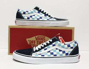 a751befe087c99 Image is loading Vans-Old-Skool-Checkerboard-Blue-Topaz-Men-039-