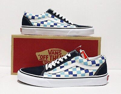 Vans Old Skool Checkerboard Blue Topaz