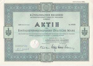 Thillmann Koblenz königsbacher brauerei ag vorm jos thillmann 1960 koblenz 1300dm ebay