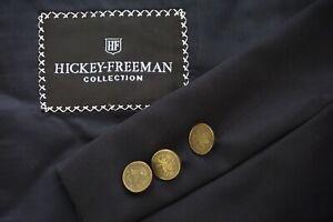 Hickey-Freeman-Boardroom-Navy-Blue-Metal-Button-Sport-Coat-Jacket-Sz-44L