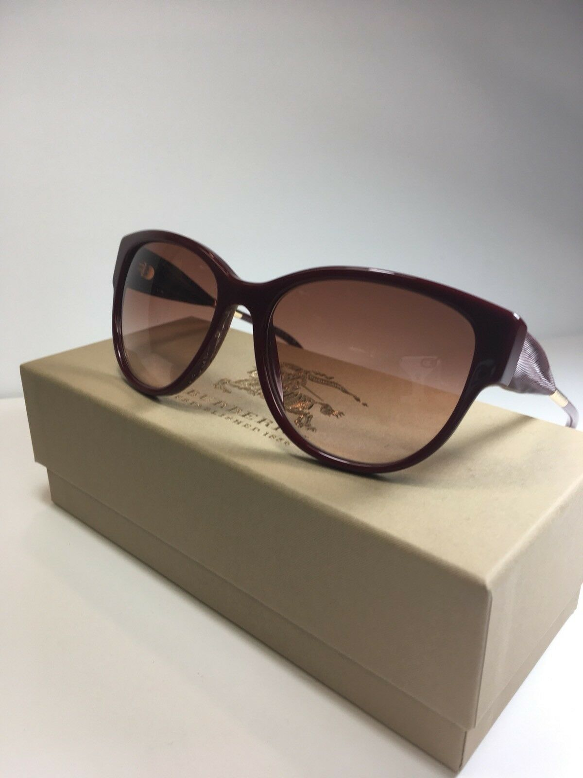 85d97b590d2f Burberry Women s Sunglasses B 4190 3403 13 Red Authentic B4190 56-17 for  sale online