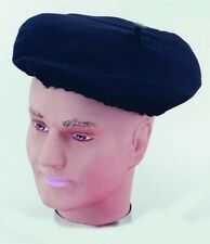 Black French Beret Fancy Dress Stag France Fancy Dress Accessory P2350