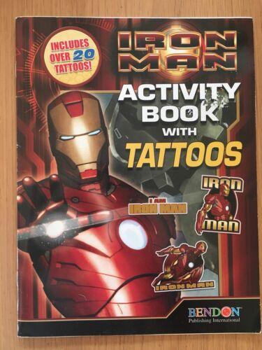 VER FOTOS * Impresionante Ironman Iron Man actividad colorear libro del tatuaje Marvel