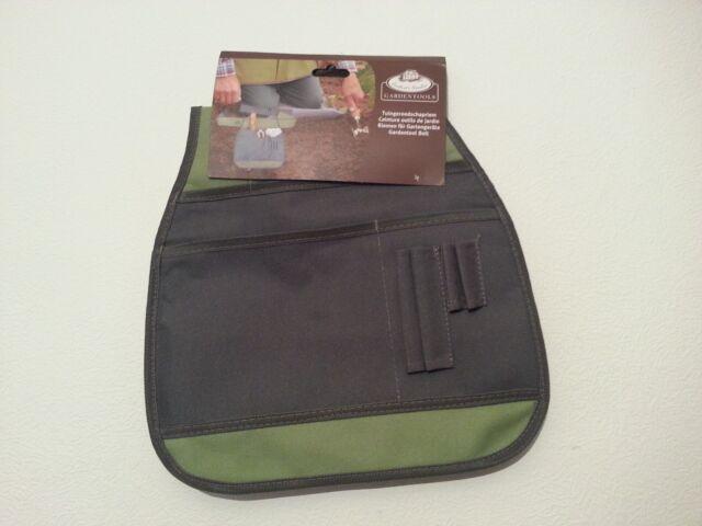 Esschert Design Garden Tool Belt Grey GT87 Sturdy Canvas Gardening Pouch