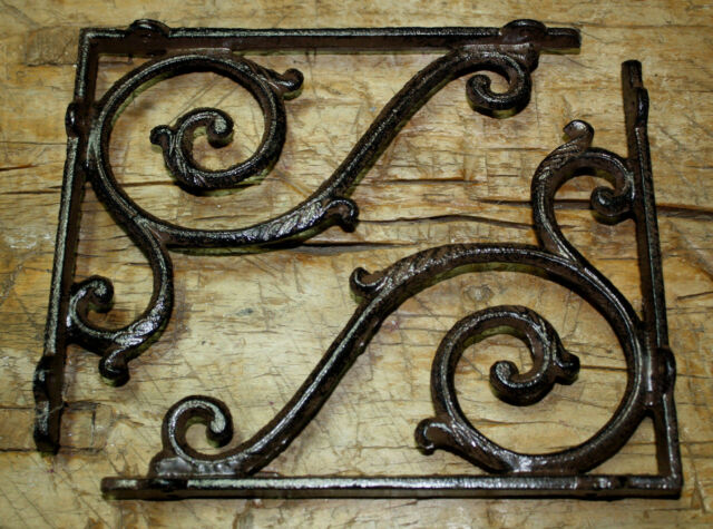 12 Cast Iron Antique Style LIFE RING Brackets Garden Braces Shelf Bracket Bamboo