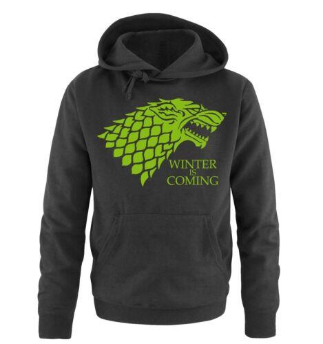 Herren HoodieMode Trend Inn Deluxe Comedy Shirts Winter is Coming