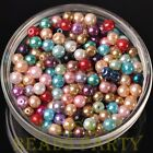 New 50pcs 6mm Round Glass Pearl Loose Spacer Beads Jewelry Making Mixed Color
